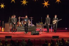 Возрождение Beatles выполняя на 23rd -го декабрь стоковые фотографии rf