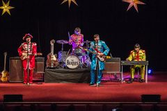Возрождение Beatles выполняя на 23rd -го декабрь стоковое изображение