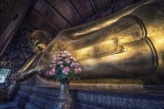 Возлежа Будда в виске Wat Pho, Бангкоке Стоковое Изображение RF