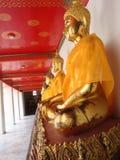 Возлежа Будда на Wat Pho в Бангкоке Стоковое Фото