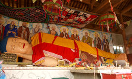 Возлежа Будда Стоковое Фото