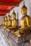 Возлежа золотой Будда Стоковая Фотография RF