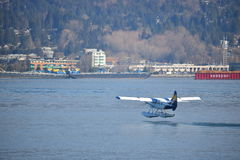 Воздух гавани поднимает от гавани Ванкувера Стоковое Изображение RF