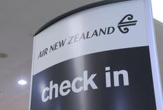 воздух Новая Зеландия Стоковые Фото