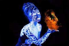 Воздух против огня Стоковая Фотография