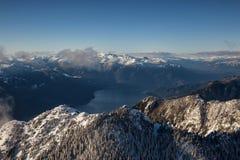 Воздушная горная цепь стоковое фото