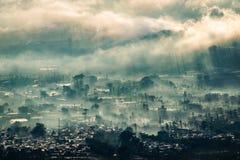 Воздушная деревня Стоковое Изображение