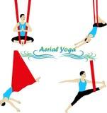 Воздушная йога Стоковая Фотография RF