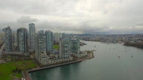 Воздушная Канада Ванкувер ДО РОЖДЕСТВА ХРИСТОВА сток-видео