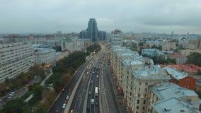 Воздушная панорама города Москвы видеоматериал