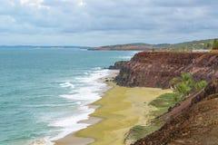 Воздушная пипа Бразилия сцены Seascape стоковая фотография rf