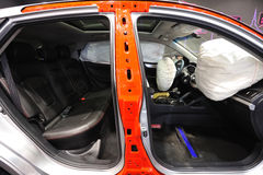 Воздушная подушка в автомобиле Стоковые Фото