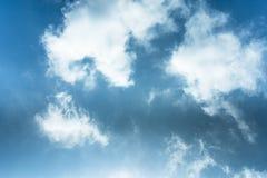 воздушная предпосылка заволакивает взгляд неба Стоковая Фотография RF