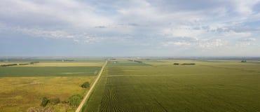 Воздушная проселочная дорога Стоковые Фотографии RF