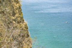 Воздушная сцена Санта Elena эквадор Seascape стоковое изображение rf