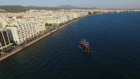 Воздушная сцена Thessaloniki акции видеоматериалы