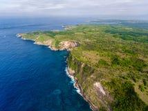 Воздушная съемка острова стоковые изображения