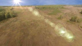 Воздушная съемка поля акции видеоматериалы