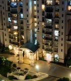Воздушная съемка современного жилого дома Стоковая Фотография