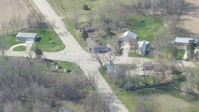 Воздушная съемка Wi холма дуба Стоковое Изображение