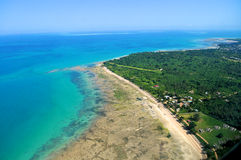 Воздушная Танзания Стоковое фото RF