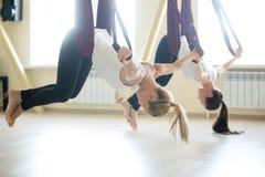 Воздушная тренировка йоги Стоковые Фото