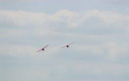 2 воздушного судна во время авиации полета Стоковые Фото
