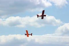2 воздушного судна во время авиации полета Стоковая Фотография RF