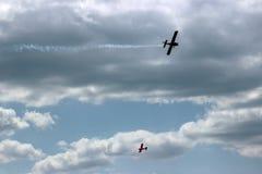 2 воздушного судна во время авиации полета Стоковое Изображение