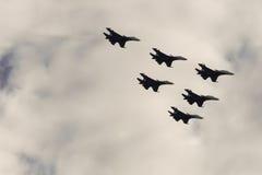 2 воздушного судна в небе Стоковые Изображения