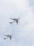 2 воздушного судна Tu-95 на параде победы Стоковые Изображения RF