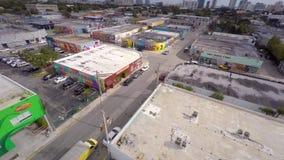 Воздушное видео- Wynwood Майами 4 4k сток-видео