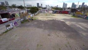 Воздушное видео- Wynwood Майами 5 4k сток-видео