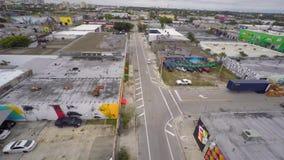 Воздушное видео- Wynwood Майами 6 4k видеоматериал