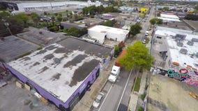Воздушное видео- Wynwood Майами 10 4k видеоматериал