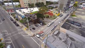 Воздушное видео- Wynwood Майами 11 4k акции видеоматериалы