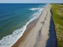 Воздушное изображение красивого пляжа на треске накидки, МАМАХ Стоковые Изображения