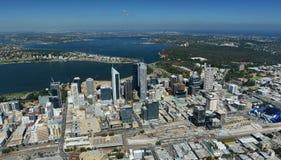 Воздушное изображение Перта, Австралии Стоковое Изображение