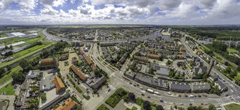 Воздушное изображение Halfweg и Zwanenburg Стоковые Фото