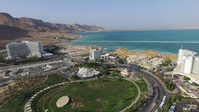 Воздушное мертвое море на районе гостиниц в Израиле Стоковое Изображение