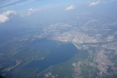 Воздушное озеро гусын Стоковое фото RF