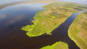 Воздушное озеро Okeechobee сток-видео