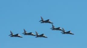 Воздушное судно полет парад победы в Москве стоковая фотография rf