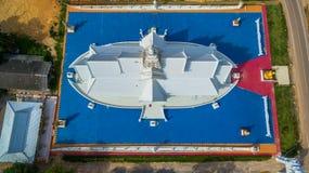 Воздушное фотографирование белый висок на корабле Стоковое Изображение