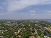 Воздушное фото общины Residental Стоковое фото RF