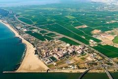 Воздушное фото окружающих територий города Валенсии в Испании стоковые изображения rf