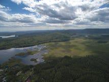 Воздушное фото природы Стоковые Изображения