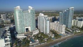 Воздушное фото пляжа FL Голливуда дипломата Westin, США Стоковое Изображение RF