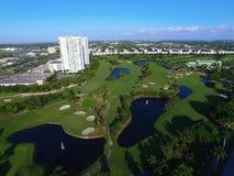 Воздушное фото трутня поля для гольфа Стоковое фото RF