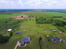 Воздушное фото ферм Georgia Стоковая Фотография